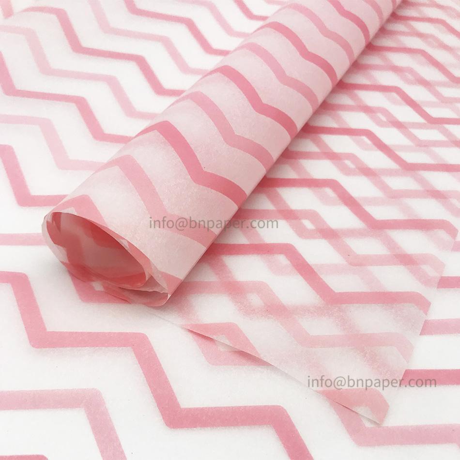 17g波浪條紋單色印刷禮品包裝薄拷貝紙 1
