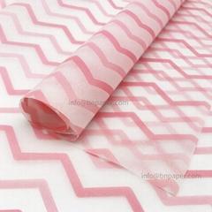 17g波浪条纹单色印刷礼品包装薄拷贝纸