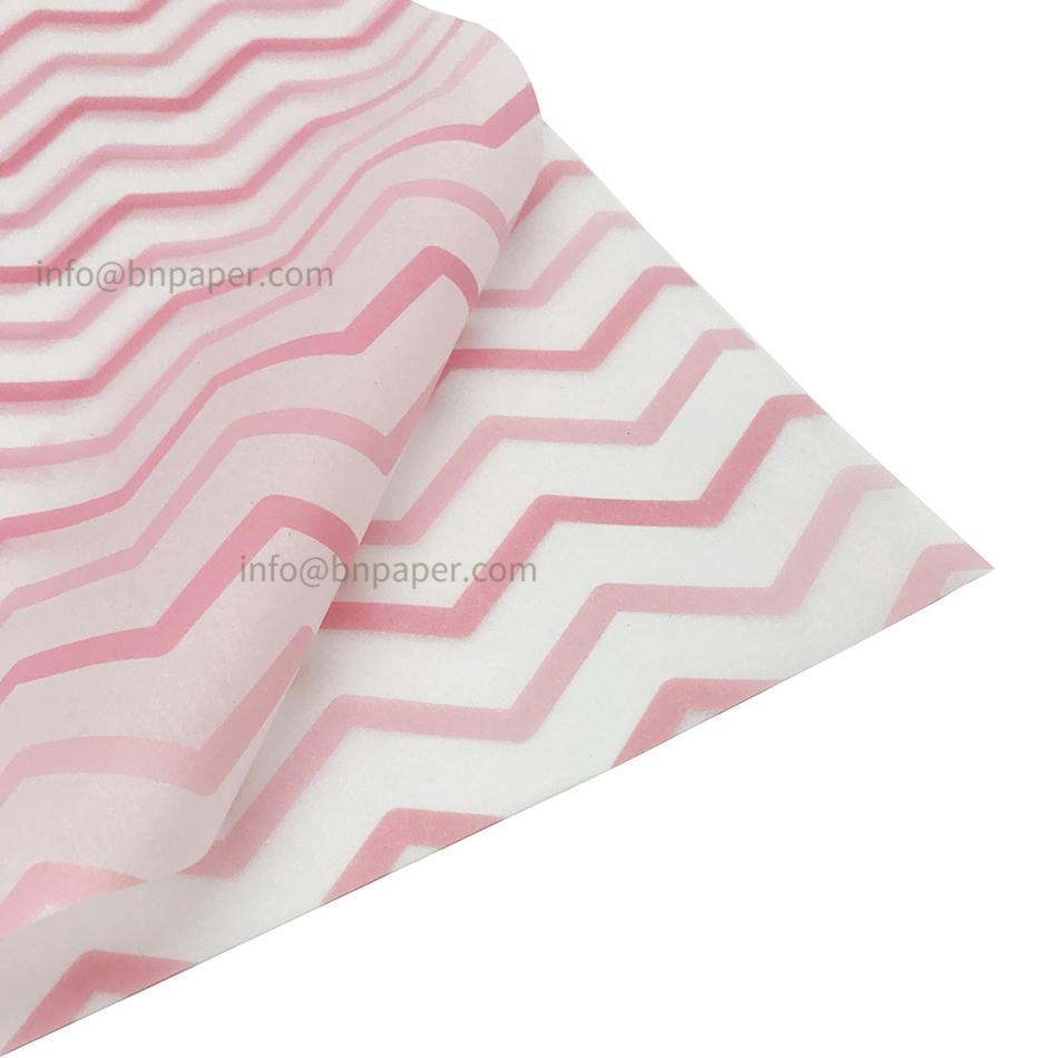 17g波浪條紋單色印刷禮品包裝薄拷貝紙 2
