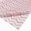 17g Customized printed single color Wavy Pattern Gift Wrapping Tissue Paper for  5