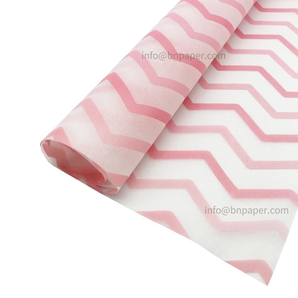 17g波浪条纹单色印刷礼品包装薄拷贝纸 7