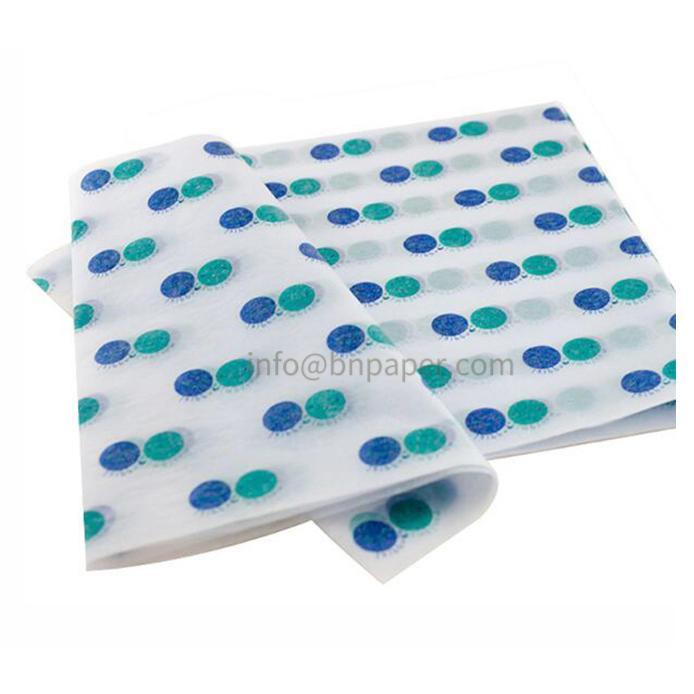二色圆点定制印刷鞋子包装纸 2