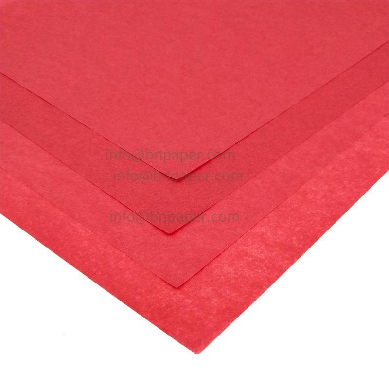 17克红色单双包装拷贝薄纸 3