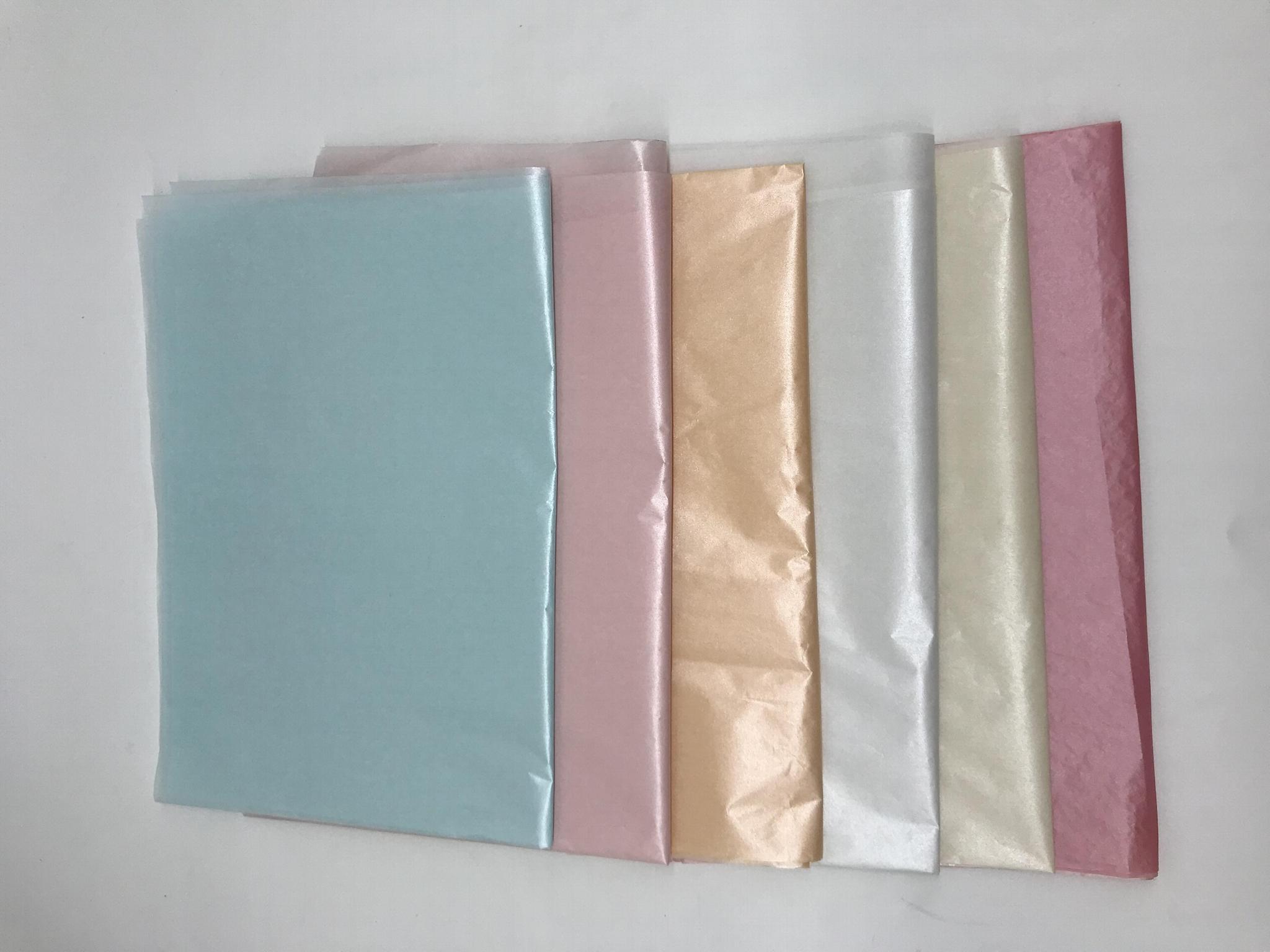 17-22克棉纸满版印刷珠光粉 节日礼品鲜花包装盒产品包装纸tissue paper 1