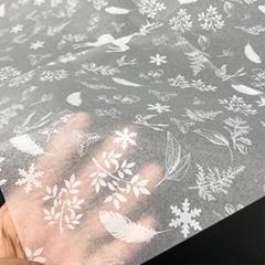 批發定製17克-35克聖誕雪梨紙印刷拷貝紙