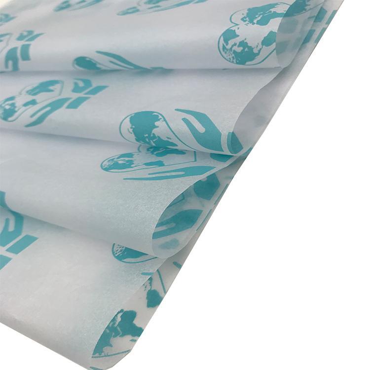 17克圣诞礼物包装纸蓝色logo拷贝纸 3