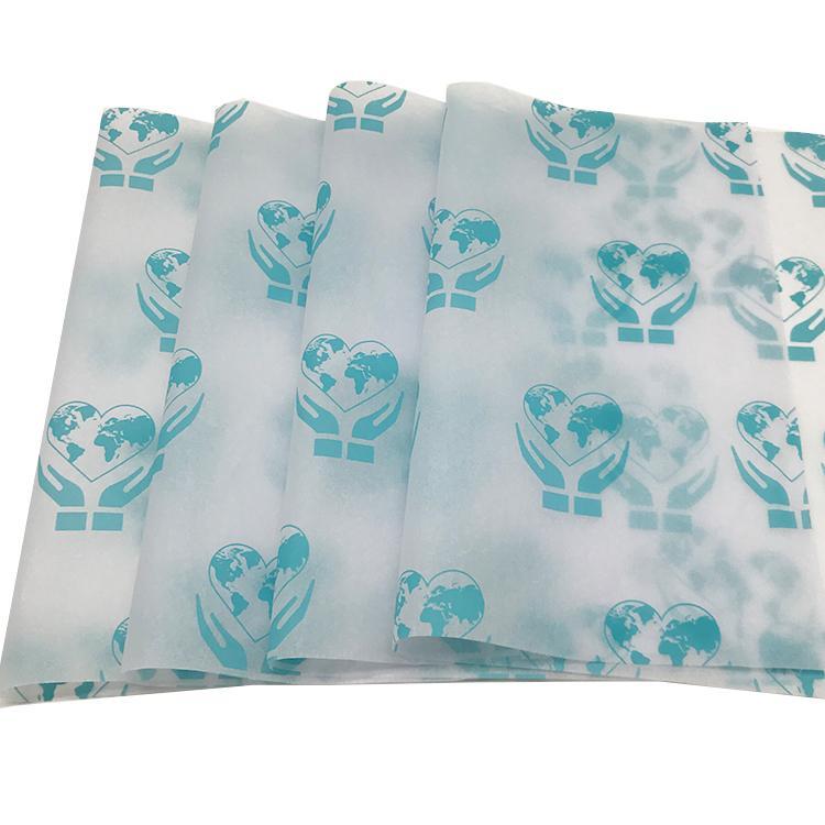 17克圣诞礼物包装纸蓝色logo拷贝纸 7