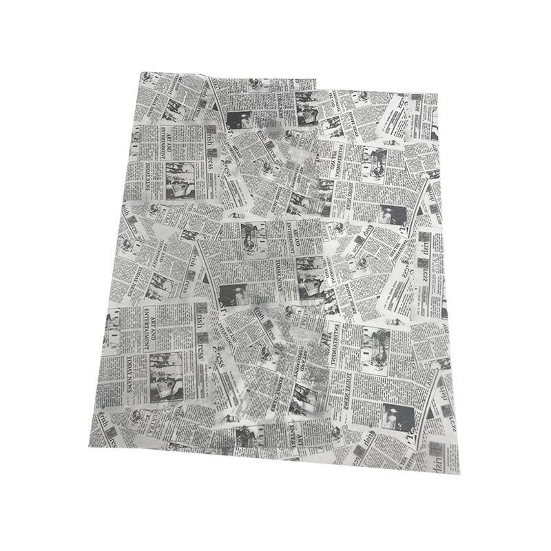 17克印刷黑色logo英文字母雪梨纸 包装纸 1