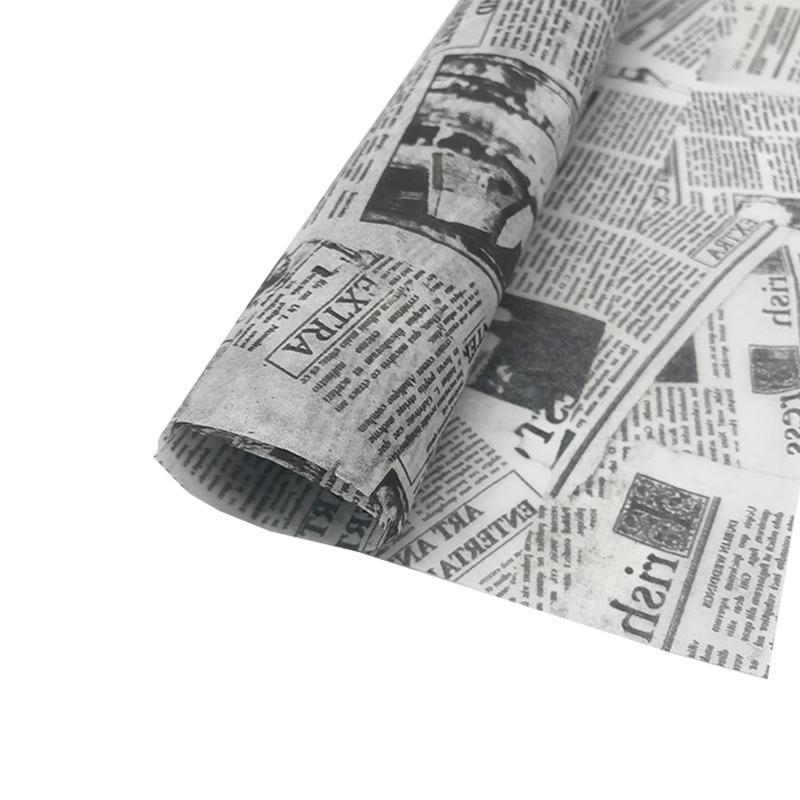17克印刷黑色logo英文字母雪梨纸 包装纸 2