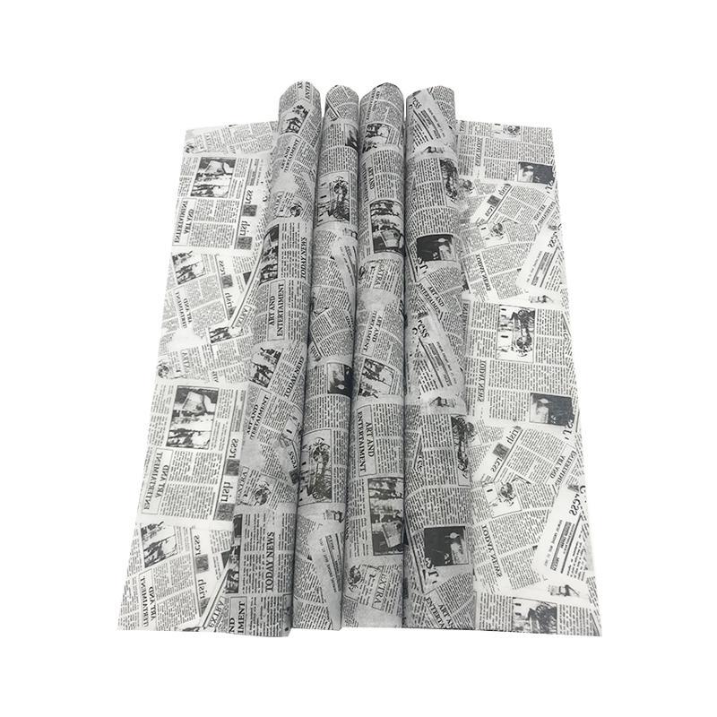 17克印刷黑色logo英文字母雪梨纸 包装纸 4