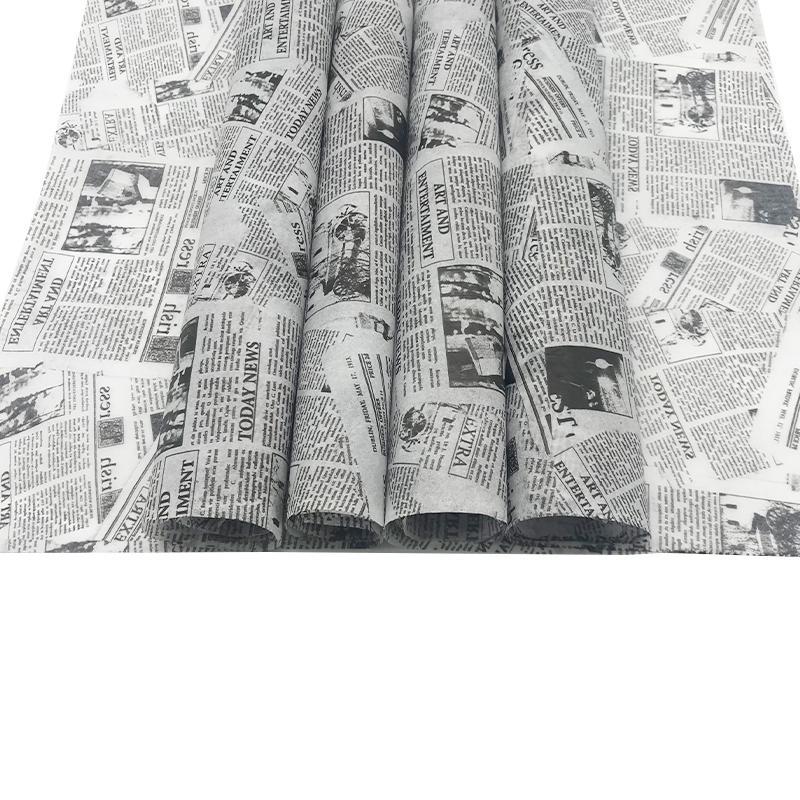 17克印刷黑色logo英文字母雪梨纸 包装纸 5
