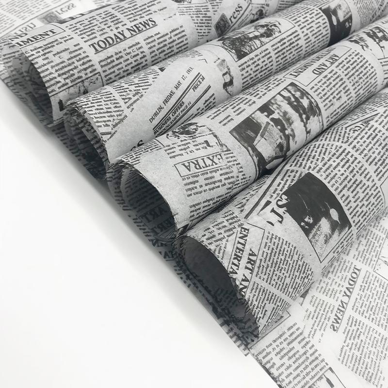 17克印刷黑色logo英文字母雪梨纸 包装纸 6