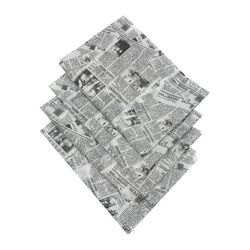 17克印刷黑色logo英文字母雪梨纸 包装纸 8