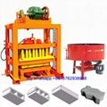QTJ4-40 germany techology vibrator concrete hollow block making machine