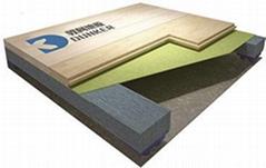 體育運動木地板 單板式龍骨結構運動木地板