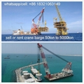 buy floating crane charter crane barge sell crane ship 1000t 1500t 2000t 2500t  1