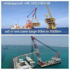 buy floating crane charter crane barge sell crane ship 1000t 1500t 2000t 2500t