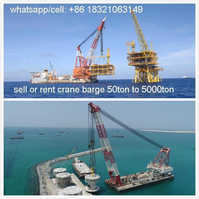 buy floating crane charter crane barge sell crane ship 500t 400t 600t 700t 800t  1