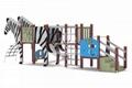 上海英奇利戶外儿童無動力遊樂設備斑馬滑梯定做廠家 1