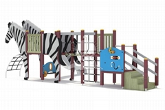 上海英奇利戶外儿童無動力遊樂設備斑馬滑梯定做廠家