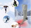 Mens custom cotton crew electric battery heated snowboard socks for Ski  3