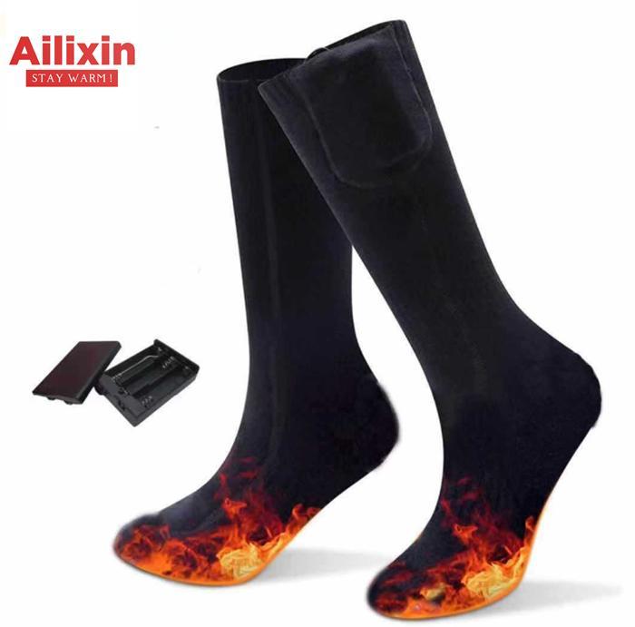 Black AA Battery heating socks 1
