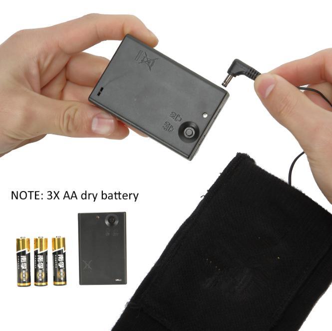 Black AA Battery heating socks 2