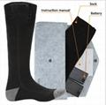Black AA Battery heating socks 3