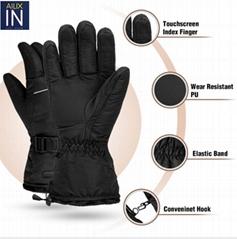 3.7V Thin outdoor heated winter gloves