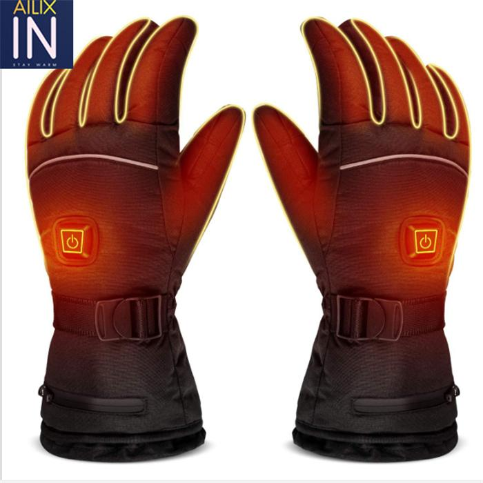 3.7V outdoor hunting motorcycle golf rechargeable battery electric gloves heated 1