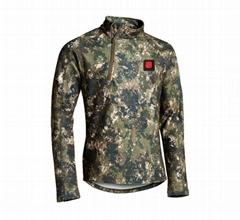Winter camouflage heated jacket ,heated jacket camo