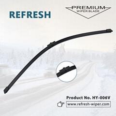 Refresh exact fit wiper blades flat windshield front &rear car wiper blades wind