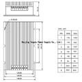 PAB-F5 Series 300-600W AC DC Converter 220vac to 12V 15V 24V 2