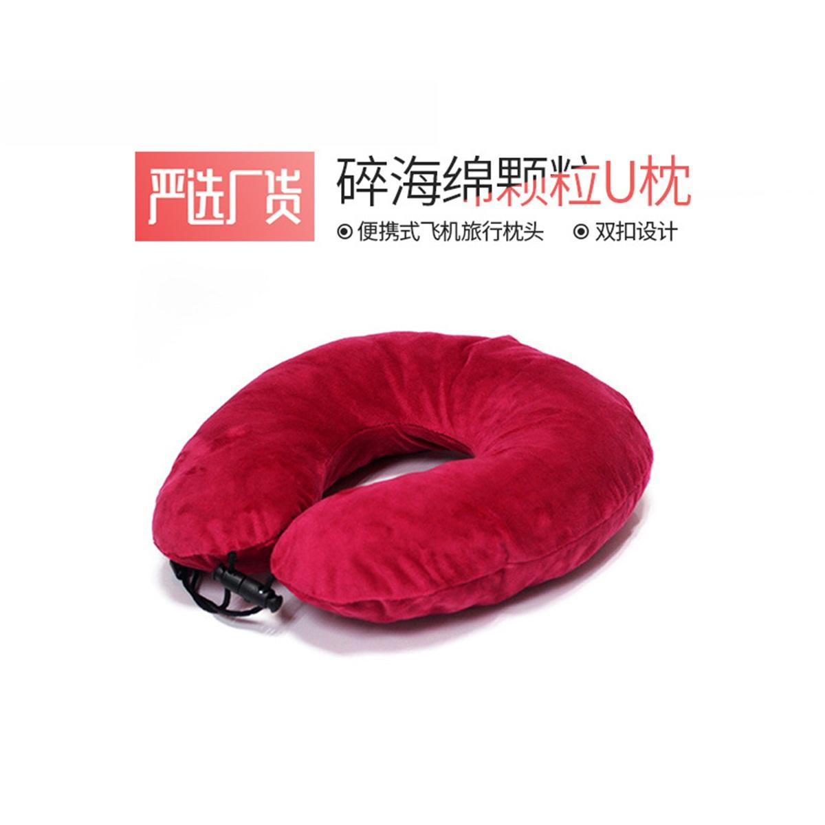 Crushed memory foam travel neck pillow for airplane Head support rest pillow 1