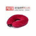 Crushed memory foam travel neck pillow