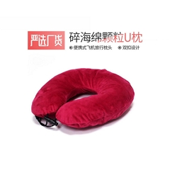 Crushed memory foam travel neck pillow for airplane Head support rest pillow