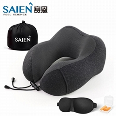 Memory foam travel neck pillow airplane support pillow