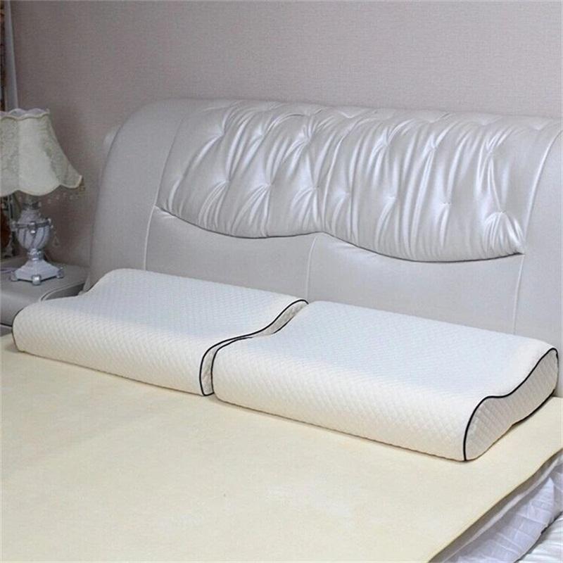 adult comfortable soft hotel memory foam neck pillow improve sleeping 1