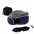 Office Nap Rest & Travel Foldable Memory Foam U Shaped car Neck Pillow 1