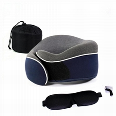 Office Nap Rest & Travel Foldable Memory Foam U Shaped car Neck Pillow