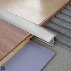 Extrusion Curved Tile Edge Trim Carpet Stair Nosing Bar Aluminum Profile