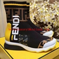 Wholesale Fendi Mania Rocko leather sock Fendi sneaker Fendi boots fendi cheap