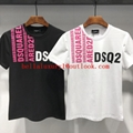 Wholesale DSQUARED2 Men Printed Round neck short sleeve tee T-Shirt Cotton DSQ 10