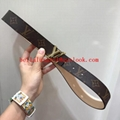 Sell 1:1Louis Vuitton Belt Top Quality LV Printed Logo Belt 100% cowhide quality