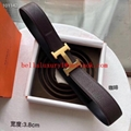 Hermes belt top quality litchi pattern Hermes metal buckle belt for men women