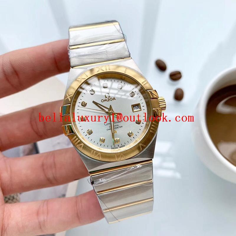 Sell Omega couple watches 1:1 quality Omega sapphire automatic mechanical Watch 11