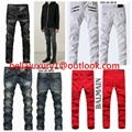 Top newest man balmain Jeans hot sell jeans top quality wholesale jeans trousers