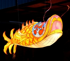 Chinese festival fish lantern with LED light