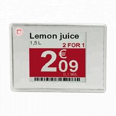 Supermarket Price Tag Digital Epaper E-ink Display Electronic ESL Shelf Label