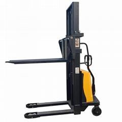 高品質1噸3.5米倉庫用半電動堆高車昇降機手推電動叉車堆垛車